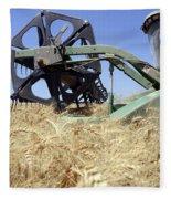 Combine Harvester  Fleece Blanket