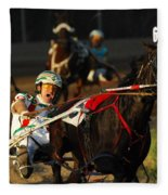 Horse Racing Come On Number 6 Fleece Blanket