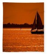 Come Sail Away Fleece Blanket