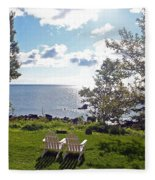 Come Sit With Me Fleece Blanket