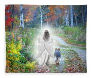 Come Walk With Me Fleece Blanket