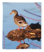 Comedian Duck Fleece Blanket