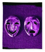 Comedy And Tragedy Masks 2 Fleece Blanket