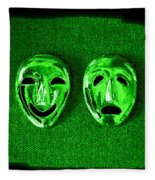 Comedy And Tragedy Masks 3 Fleece Blanket