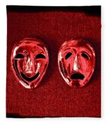 Comedy And Tragedy Masks 4 Fleece Blanket