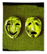Comedy And Tragedy Masks 6 Fleece Blanket