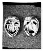 Comedy And Tragedy Masks 7 Fleece Blanket