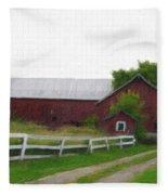 Coming Home - Digital Painting Effect Fleece Blanket