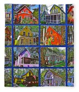 Coming Home Photo Assemblage In Asbury Grove In South Hamilton-massachusetts Fleece Blanket
