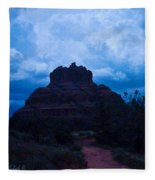 Coming Storm Bell Rock Fleece Blanket
