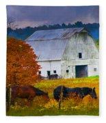 Coming To The Barn Fleece Blanket