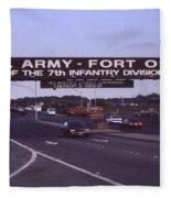 Fort Ord  Commander  Major General Marvin L. Covault  7th Infantry Division 1992 Fleece Blanket