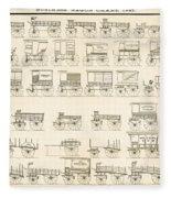 Commercial Wagons  1881 Fleece Blanket