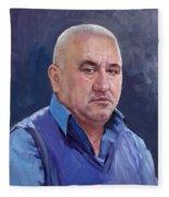 Commissioned Portrait Fleece Blanket