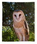 Common Barn Owl 1 Fleece Blanket