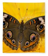 Common Buckeye Butterfly Fleece Blanket
