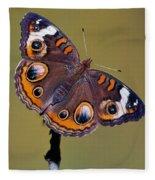Common Buckeye Precis Coenia Fleece Blanket
