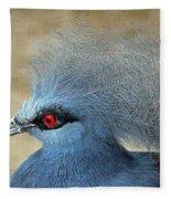 Common Crowned Pigeon Fleece Blanket