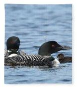 Common Loon Family Fleece Blanket