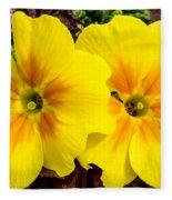 Common Primrose 1 Fleece Blanket