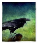 Common Raven Fleece Blanket