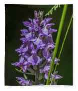 Common Spotted Orchid Fleece Blanket
