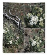 Common Yarrow Collage Fleece Blanket