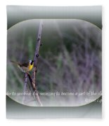 Common Yellowthroat - Bird Fleece Blanket