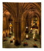 Commons Room Cathedral Of Learning University Of Pittsburgh Fleece Blanket