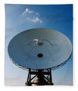 Communicating Via Satellite Dishes. Fleece Blanket