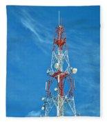 Communications Mast Hua Hin Fleece Blanket