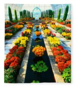 Como Conservatory's Fall Display. St Paul Minnesota. Fleece Blanket