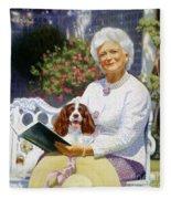 Companions In The Garden Fleece Blanket