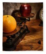 Comparing Apple And Orange Fleece Blanket