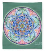 Compassion Mandala Fleece Blanket