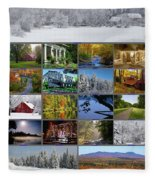 Composite Of Photographs From Various Fleece Blanket