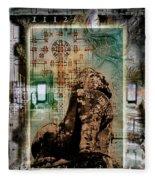 Composition Based On Angkor History Fleece Blanket