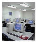 Computer Lab, C1990 Fleece Blanket