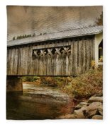 Comstock Bridge 2012 Fleece Blanket