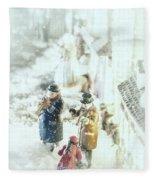 Concert In The Snow Fleece Blanket