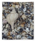 Conch Among A Sea Of Shells Fleece Blanket