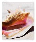 Conch Shell - Listen Fleece Blanket