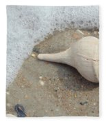 Conch Shell Vacation Fleece Blanket
