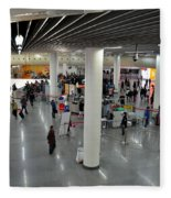 Concourse At People's Square Subway Station Shanghai China Fleece Blanket