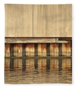 Concrete Wall And Water 1 Fleece Blanket