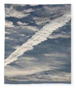 Condensation Trails - Contrails - Airplane Fleece Blanket
