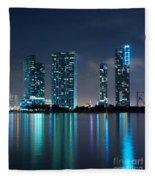 Condominium Buildings In Miami Fleece Blanket