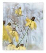 Coneflower And Bee 1  Fleece Blanket