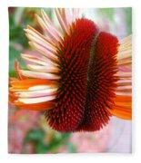 Coneflower Bloom Unspiraling Fleece Blanket