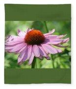 Coneflower In Bloom Fleece Blanket